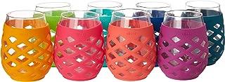 Ello 8-Piece Silicone Glassware Set 17oz