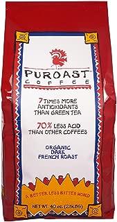 Puroast Coffee French Roast Low Acid Organic, Whole Bean, 2.5 Lb