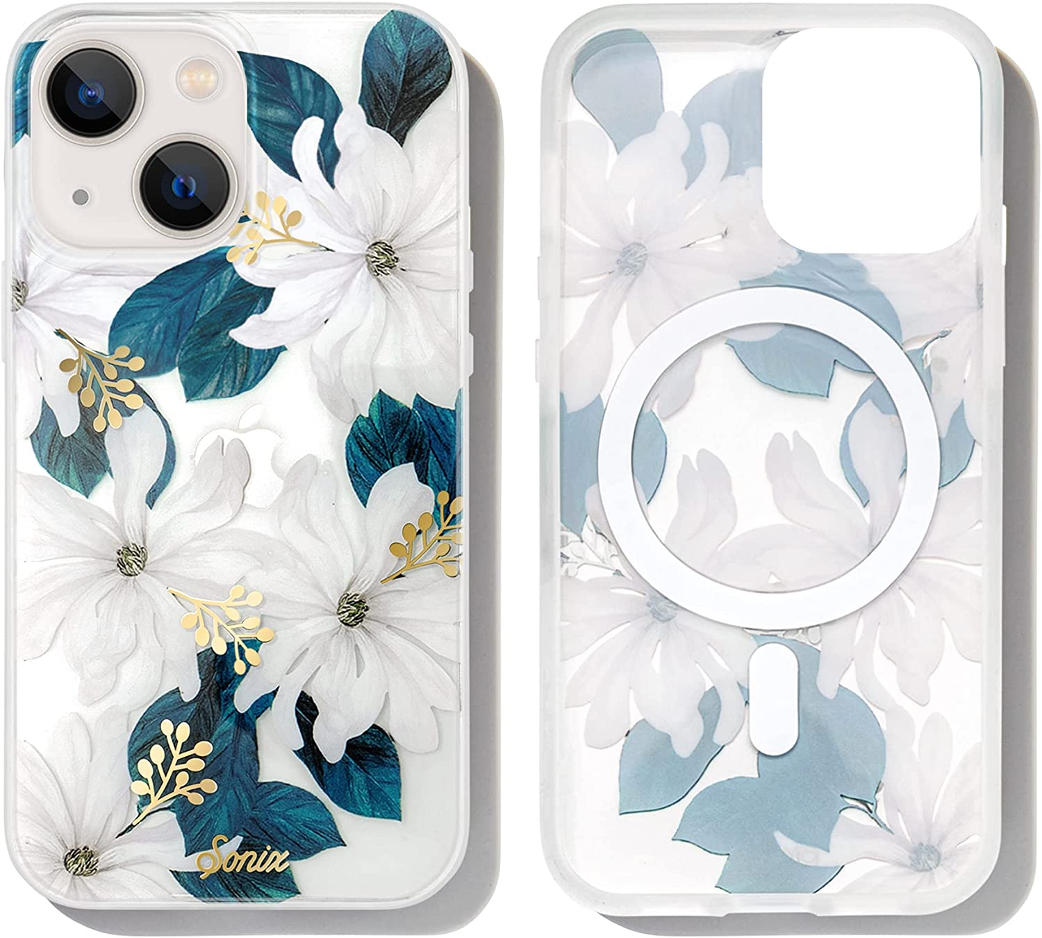 Sonix Delilah Flower Case for iPhone 13 Compatible with MagSafe Charging [10ft Drop Tested] Protective Women's Cute Cover for Apple iPhone 13