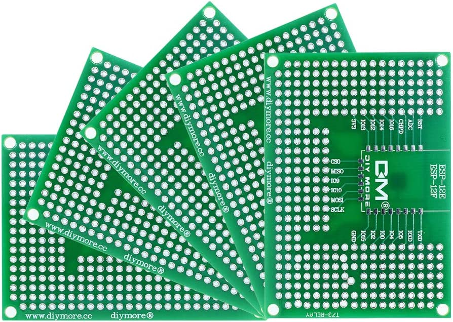 diymore 5pcs Recommended 5X7CM 50X70MM Double Now free shipping Breadboard Prototype Sides PCB