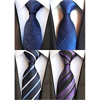 "Weishang 4PCS Wide Ties 63"" XL Extra long Necktie Tall Tie"