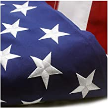VSVO American Flag 3x5 ft - Durable Longer Lasting Spun Polyester 300D for Outdoor Use - UV Protected, Embroidered Stars, Sewn Stripes, Brass Grommets US Flags.