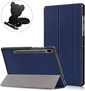 Ostop Trifold Stand Case Ultra Thin for Samsung Galaxy Tab S6 10.5 T860/T865 with Phone/Tablet Desk Standing,Slim Lightweight Smart Magnetic Cover with Auto Sleep/Wake Function,Dark Blue