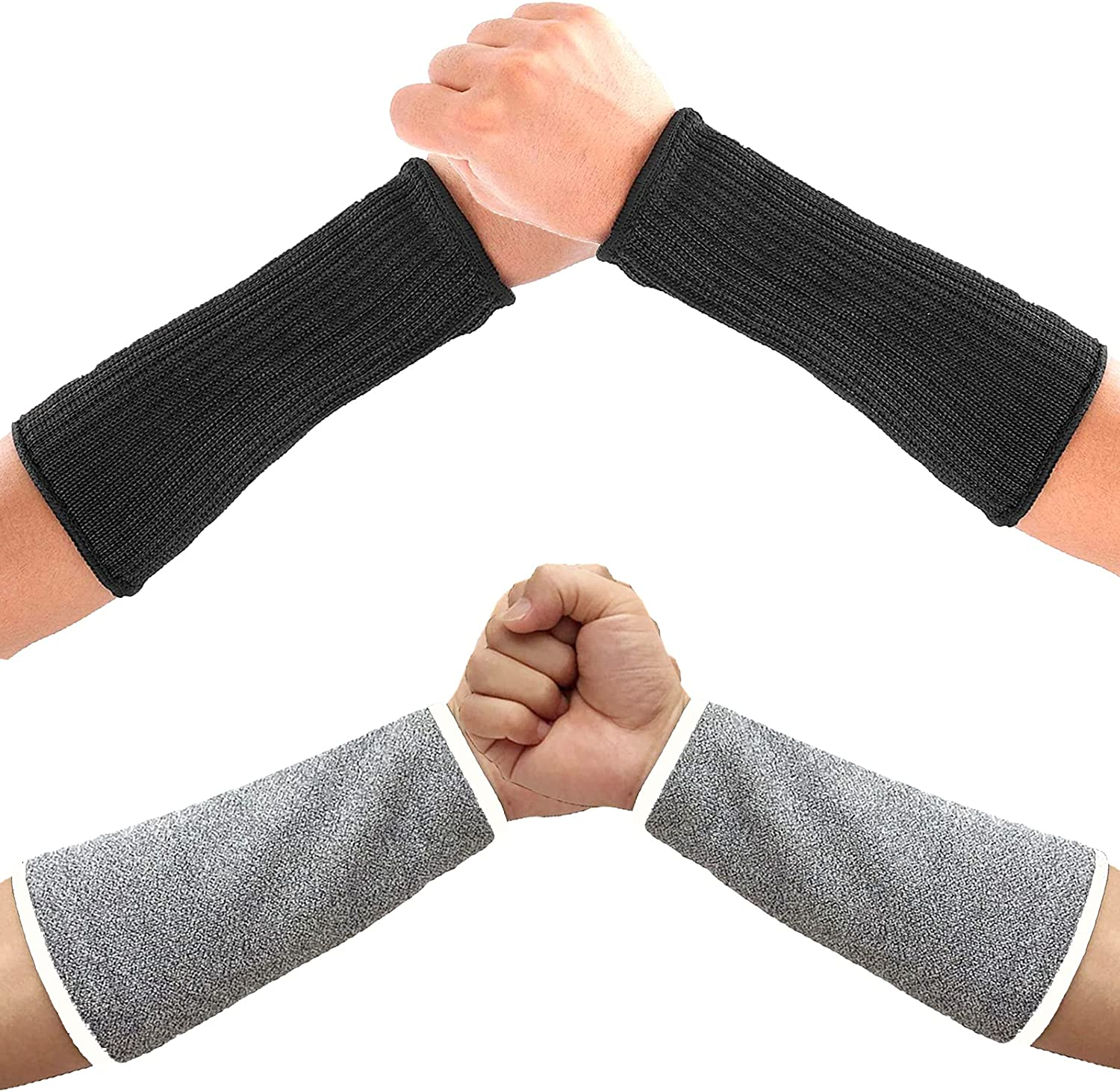2 Pairs Cut Resistant Arm Protection Sleeves, Level 5 Protective Sleeves for Arms Arm Protectors for Thin Skin and Bruising, Anti Abrasion Arm Guard Protective Arm Sleeves for Kitchen Garden Yard Work
