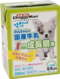 ドギーマン わんちゃんの国産牛乳 1歳までの成長期用 200ml×24個 (ケース販売)