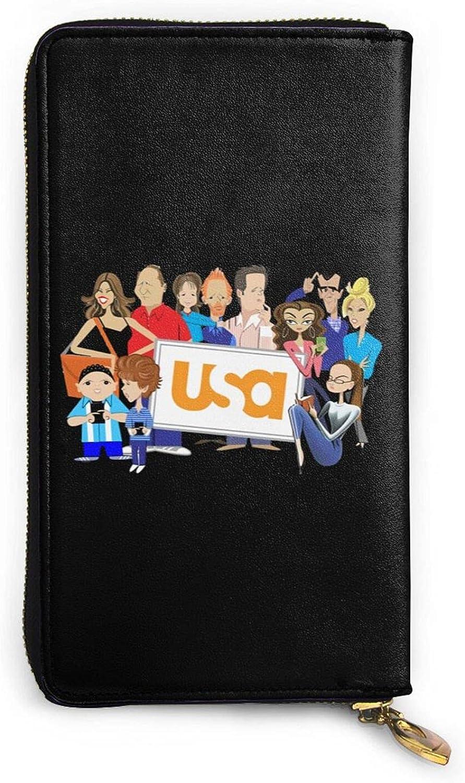 Modern Family wallet Regular store Genuine Leather Orga Memphis Mall Card Wallet Zip Holder