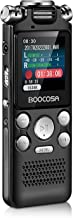 Voice Recorder - Noise Cancelling Audio Recorder - Packs 8GB Memory - Double Microphone for HD Sound Recording Metal Casing Dictaphone