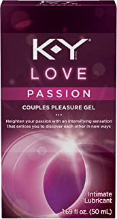 Personal Lubricant, K-Y Love Water-based Lubricant, 1.69 oz, Personal Lube For Women That Will Bring Tingling Sensations