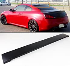 Cuztom Tuning Fits for Infiniti 2008-2016 G37 Q60 2 Door Coupe ABS Primer Rear Window Roof Spoiler Wing