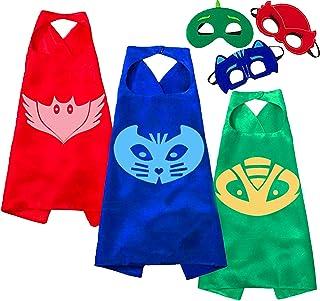 NuGeriAZ Capes and Dress up for Kids Superhero Capes and Masks Superhero Toys Kids Best Gifts (3Pcs)