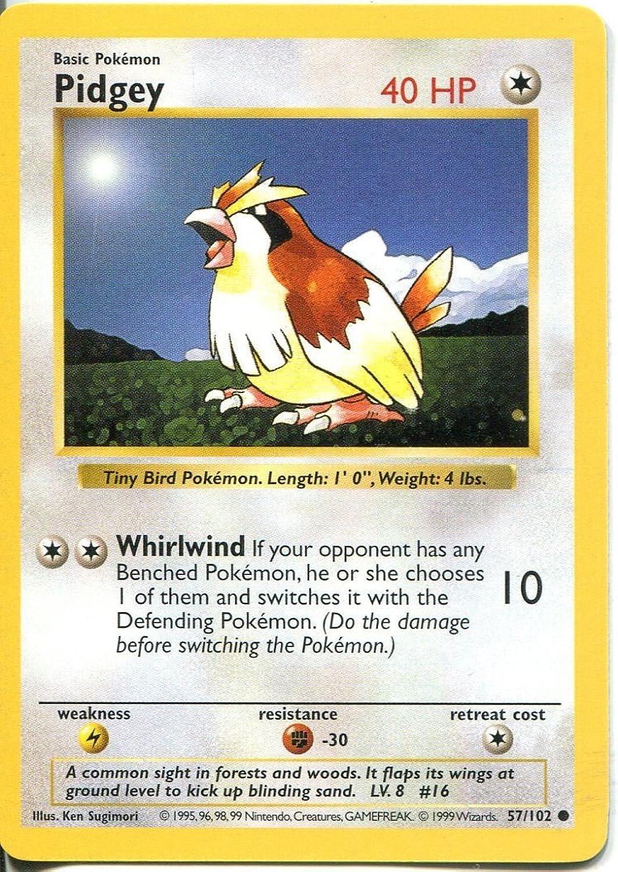 Pokemon Base Set Shadowless Common Card  57 102 Pidgey B00R6715LS Optimaler Preis  | Genial