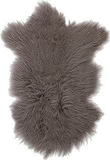SLPR Home Collection Mongolian Lamb Rug (Grey)