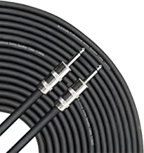 GLS Audio 100 feet Speaker Cable 12AWG Patch Cords - 100 ft 1/4