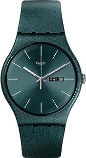 Swatch ユニセックス グリーンシリコンバンド プラスチックケース スイスクォーツ アナログ腕時計 SUOG709