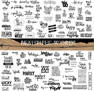 Doraking 90PCS Vintage Nice Words Sentences Sweet Happiness Stickers for Decoration Laptop Scrapbook Windows - Doraking No...
