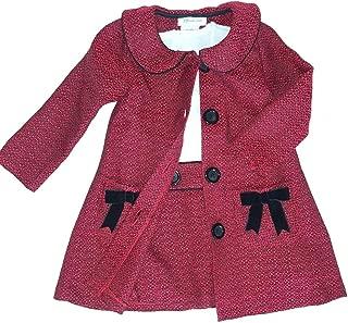 Bonnie Baby Baby Girls Newborn-24 Months Boucle' Coat and Dress Set