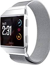Aiiko Compatible with Fitbit Ionic Bands, Metal Stainless Steel Small Size Strap,Comfortable Adjustable Closure Wrist Sport Band Replacement for Fitbit Ionic Smart Watch - Silver