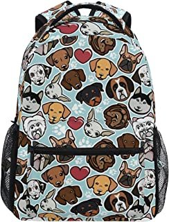 ALAZA Cute Doodle Dog Print Animal Large Backpack Personalized Laptop iPad Tablet Travel School Bag with Multiple Pockets