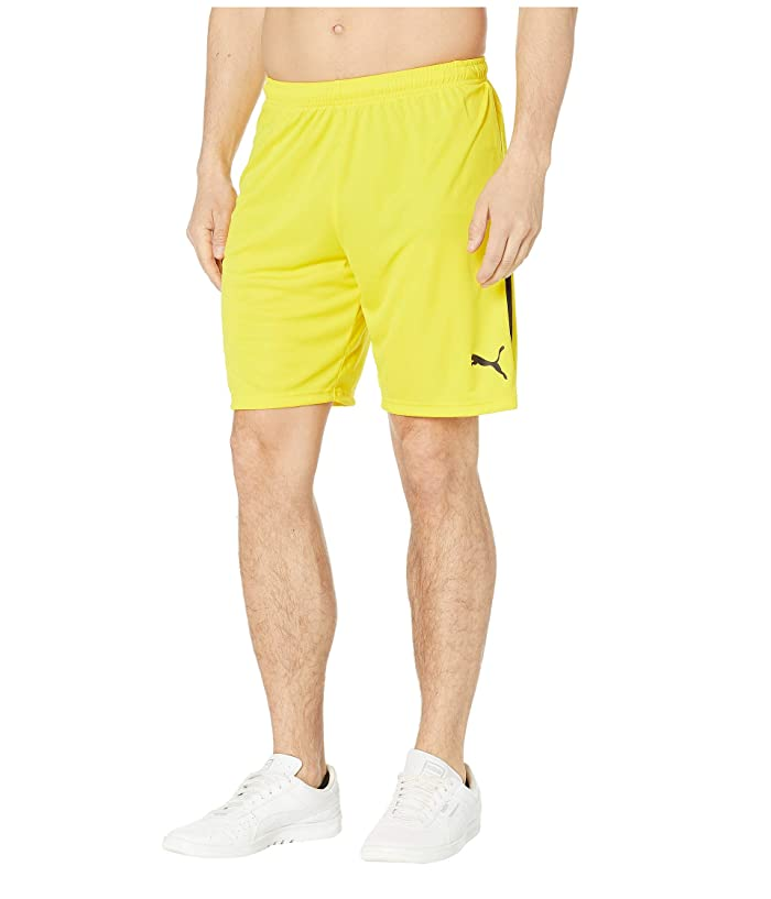 PUMA Liga Shorts (Cyber Yellow/Puma Black) Men