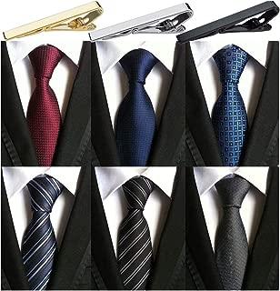 Pack of 6 Men's Classic Business Tie Silk Necktie Neck Ties