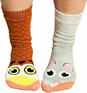 Ladies Owl and Mouse Cute Animal Mismatched Socks