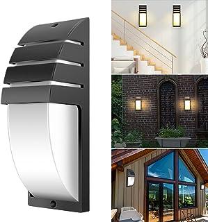 Donpow Iluminación moderna de aplique de pared LED, CA 85-265V 6000-6500K Lámparas de accesorios Lámparas de pared de yeso para sala de estar Dormitorio Pasillo Conservatorio (Black, warm light)