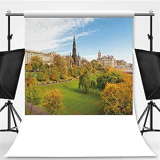 Princes Street Gardens Photography Backdrop,Edinburgh for Television,Flannelette:5x7ft