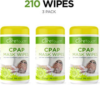 Care Touch CPAP Cleaning Mask Wipes - Citrus Scent, Lint Free - 70 Wipes, Pack of 3-210 Wipes Total
