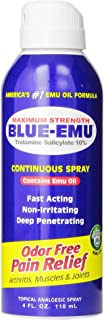 Blue Emu Continuous Pain Relief Spray, 4 Ounce