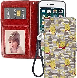 Wallet Case Fit iPhone 7 Plus & iPhone 8 Plus (5.5in) Pooh Wallpaper Flap