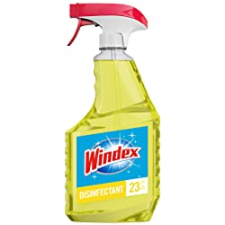 Windex Disinfectant Cleaner Multi-Surface Trigger, Citrus Fresh Scent, 23 fl oz