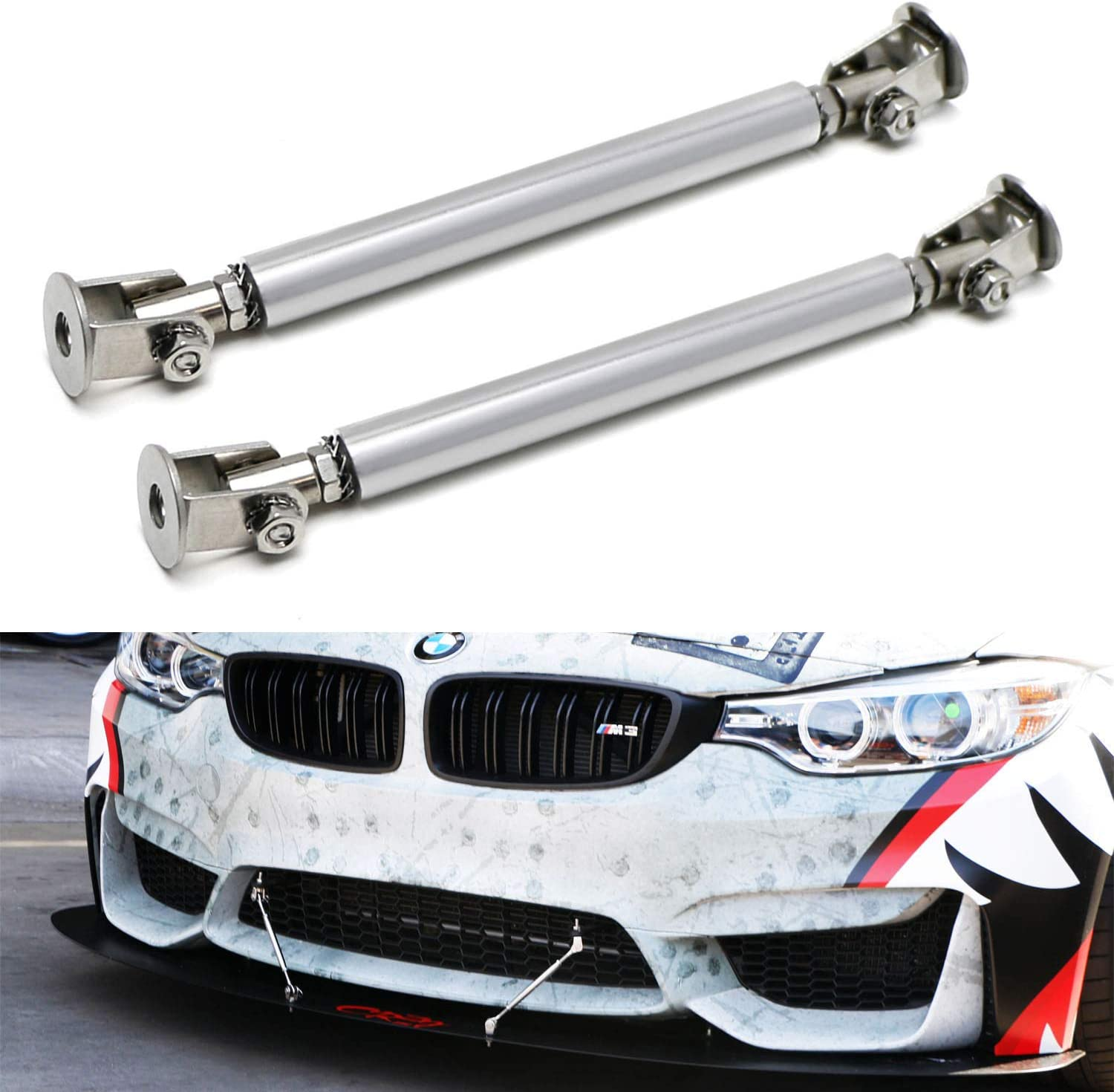 iJDMTOY Universal Fit Silver Finish Discount mail order Bumper Splitter Front Rapid rise Lip St