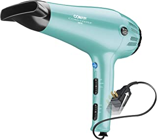Conair 1875 Watt Cord Keeper Hair Dryer, Aqua
