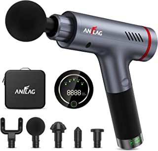 Massage Gun Deep Tissue Massage Gun for Athletes Percussion Massager Gun Cordless Handheld Electric Body Massager for Pain...