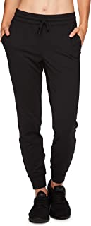 RBX Active Women's Athletic Super Soft Lightweight Cuffed Tapered Fleece Jogger Sweatpants with Pockets