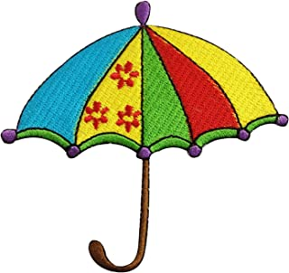 Umbrella Raining Sew on or Iron on Patches Embroidered Applique Craft Accessory for decorate your Clothes Jeans Tshirt Jac...