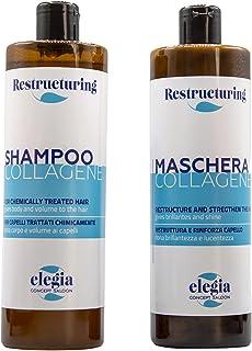 RESTRUCTURING - Elegia Shampoo e Balsamo Kit Collagene Acido Ialuronico e Cheratina | Infoltimento Capelli