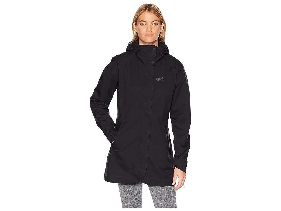 Jack Wolfskin Ruunaa 3-in-1 Waterproof Coat (Black) Women