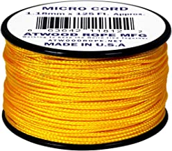 product image for Yellow MS04 1.18mm x 125' Micro Cord Paracord Made in the USA