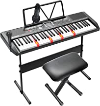 LAGRIMA LAG-750 61 Key Electric Keyboard Piano with H Stand,