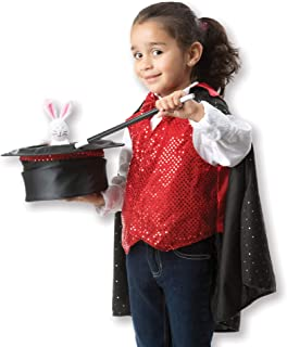 Melissa & Doug Magician Role Play Costume Set (Pretend Play, Materials, Machine Washable, Great Gift for Girls and Boys - Best for 3, 4, 5, and 6 Year Olds)