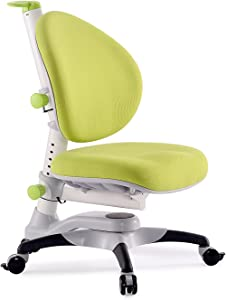 ApexDesk Little Soleil DX Series Children's Height Adjustable Chair, Green