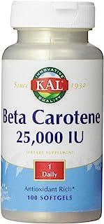 KAL Beta Carotene 25,000 IU Tablets, 100 Count