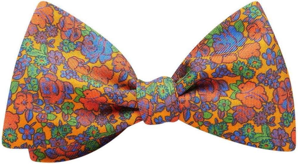 Fullerton Orange Floral, Men's Bow Tie, Handmade in the USA