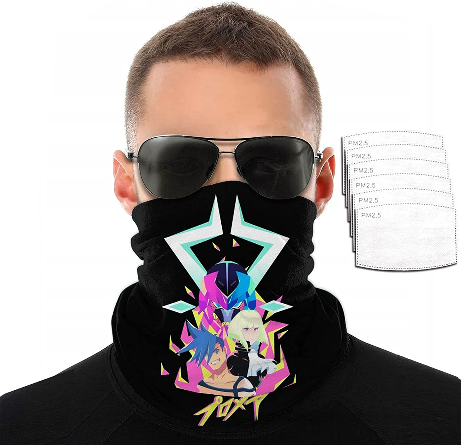 Anime Promare Variety Face Towel 3D Sun Over item Ranking TOP9 handling ☆ Printing Funny Pro Scarf