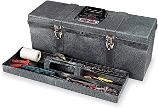 "Contico 8260-4 26"" Portable Tool Box, Charcoal Gray"