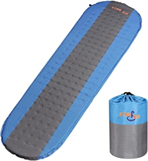 STARFISH Camping Sleeping Bag Pad Lightweight Hiking Backpacking Self Inflating Comfortable Ultralight Compact Durable Mattress for Outdoor Traveling Sleep Rest Insulated Support Mummy Bag Bed