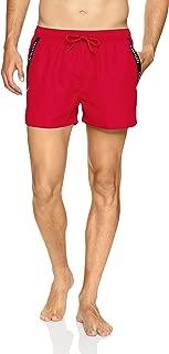 Calvin Klein Men's Short Drawstring Swim Shorts, Red