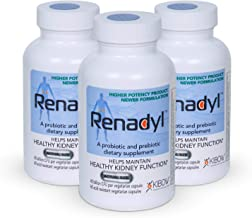 Renadyl™- All-Natural Probiotic Best Kidney Supplement - 3 Bottles, Acid- Resistant Capsules, Vegetarian, Non-GMO, Sugar-Free, Direct from Kibow® Biotech, The Manufacturers of Renadyl™