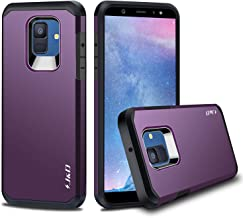 J&D Case Compatible for Galaxy A6 2018 Case, Heavy Duty [Dual Layer] Hybrid Shock Proof Protective Rugged Bumper Case for Samsung Galaxy A6 (Release in 2018) Case – [Not for Galaxy A6 Plus 2018]